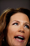 Republican presidential candidate, Rep. Michele Bachmann speaks at a town hall event in Sioux City, Iowa, August 9, 2011.