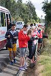 Students Taking Photos of Views On The Way to Otovalo Market