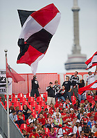 August 21 2010  D.C. United fans show their support during a game between DC United and Toronto FC at BMO Field in Toronto..DC United won 1-0.