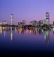 Back Bay skyline charles River Boston MA