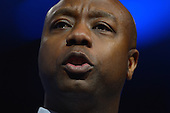 March 14, 2013  (National Harbor, MD)  U.S. Senator Tim Scott (R-SC) addresses attendees of the 2013 Conservative Political Action Conference (CPAC) at the Gaylord Hotel in National Harbor, MD.  (Photo by Don Baxter/Media Images International)