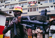 November 1975, Luanda, Angola --- Headquarters of National Front for the Liberation of Angola (FNLA) in Luanda. --- Image by © JP Laffont