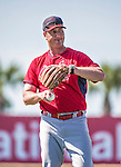 9 March 2014: St. Louis Cardinals hitting coach John Mabry tosses batting practice prior to a Spring Training game against the Washington Nationals at Space Coast Stadium in Viera, Florida. The Nationals defeated the Cardinals 11-1 in Grapefruit League play. Mandatory Credit: Ed Wolfstein Photo *** RAW (NEF) Image File Available ***