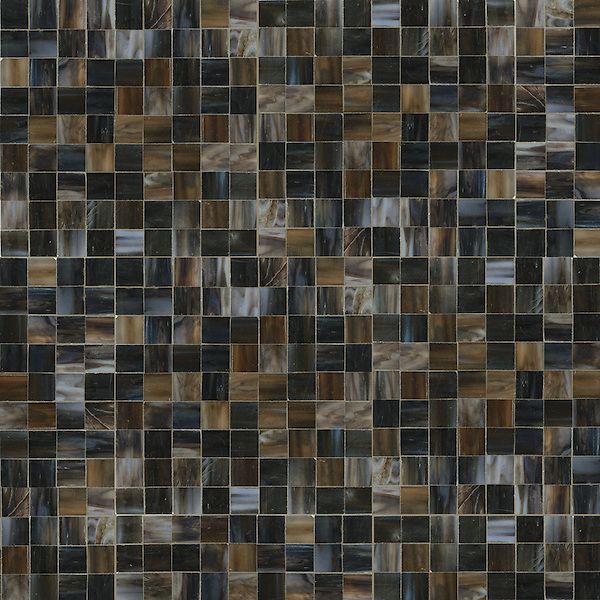 Gridded 3cm, a hand-cut jewel glass mosaic, shown in Schist.