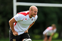 Matt Garvey of Bath Rugby. Bath Rugby training session on September 4, 2015 at Farleigh House in Bath, England. Photo by: Patrick Khachfe / Onside Images