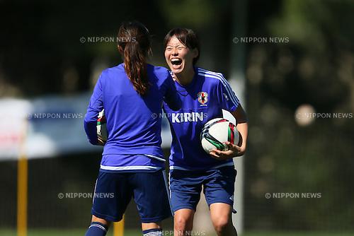 Saki Kugagai (JPN), <br /> MARCH 10, 2015 - Football / Soccer : <br /> Japan Women's Training <br /> for Algarve Women's Football Cup 2015 <br /> in Quarteira, Portugal. <br /> (Photo by YUTAKA/AFLO SPORT)