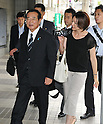 "Tokyo, Japan, September 4, 2011 : Minister in charge of abduction affairs, Kenji Yamaoka arrives at a ""National Rally about abduction by North Korea"" in Tokyo, Japan, on September 4, 2011. (Photo by AFLO)"