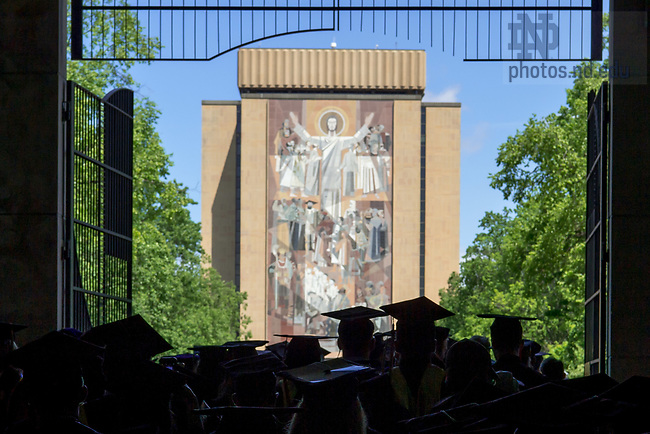 May 21, 2017; Commencement 2017 (Photo by Matt Cashore/University of Notre Dame)
