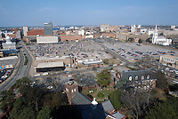 1994 March ..Redevelopment..Macarthur Center.Downtown North (R-8)..VIEWS BEFORE.FROM SCHOOL ADMINISTRATION BUILDING. (165 FEET ABOVE GROUND)...NEG#.NRHA#..