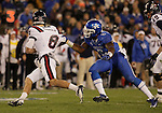 Kentucky Wildcats linebacker Alvin Dupree (2) goes after Samford Bulldogs quarterback Andy Summerlin (8) during the first half of the UK Football game v. Samford at Commonwealth Stadium in Lexington, Ky., on Saturday, November 17, 2012. Photo by Genevieve Adams | Staff