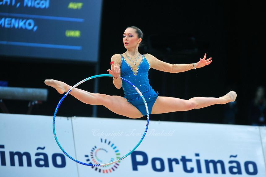 Silviya Miteva of Bulgaria performs at 2011 World Cup at Portimao, Portugal on April 29, 2011.  .