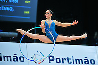 Silviya Miteva of Bulgaria performs at 2011 World Cup at Portimao, Portugal on April 29, 2011.  .