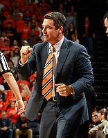CHARLOTTESVILLE, VA- DECEMBER 6: Head coach Tony Bennett of the Virginia Cavaliers reacts to a play during the game on December 6, 2011 against the George Mason Patriots at the John Paul Jones Arena in Charlottesville, Virginia. Virginia defeated George Mason 68-48. (Photo by Andrew Shurtleff/Getty Images) *** Local Caption *** Tony Bennett