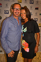 """Manly, New South Wales /Australia (Thursday, February 16, 2012) Layne Beachley (AUS)  with husband Kirk Pengilly (AUS) best known as the guitarist, saxophonist and principal backing vocalist of the iconic Australian rock band, INXS. The Australian surfing tribe gathered in Manly last night to honour big-wave legend Ross Clarke-Jones as he was inducted into the Australian Surfing Hall of Fame...Clarke-Jones became the 34th Inductee into the Hall of Fame in front of more than 400 people at a gala function at the Manly Novotel...The 45-year-old was overwhelmed and humbled by the honour...""""I am completely humbled,"""" Clarke-Jones said. """"When you look at the guys on there I think Im not worthy. These guys are world champions, they design stuff everyone surfs on. Im really taken aback to be part of this list...""""Its a bit like a bookend, but Im not ready to retire yet. With the whole Storm Surfer thing it feels like Im starting again. I feel like a spring chicken...""""Im honoured to be recognised as its something I never dreamed of receiving."""".World No.3 Owen Wright was named the Male Surfer of the Year; womens World No.2 Sally Fitzgibbons was named Female Surfer of the Year; and ASP Womens Rookie of the Year Tyler Wright won the Rising Star Award...Ten-time Molokai paddleboard champion and winner of the recent Biggest Paddle Award in the ASL Oakley Big-Wave Awards Jamie Mitchell won the inaugural Waterman Award...The ASB Surfing Spirit Award was won by 1988 World Champion Barton Lynch for his tireless efforts to training and mentoring the surfing champions of tomorrow including organising the successful BLs Blast Off event for junior surfers.. Photo: joliphotos.com"""
