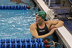18 February 2016: Notre Dame's Catherine Galletti competes in the Women's 50 Freestyle preliminary Heat 4. The 2016 Atlantic Coast Conference Swimming and Diving Championships were held at the Greensboro Aquatic Center in Greensboro, North Carolina from February 17-27, 2016.