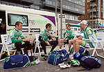 Irish National Cycling Team at the Tour of Ireland 2008. L-R, Paul Healion, Paul Griffen, Roger Aiken, David McCann