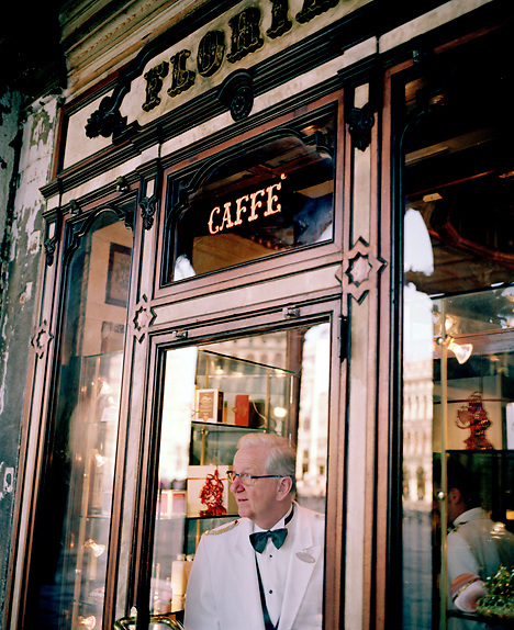 The legendary Cafe Florian on St Marks Square, Venice, Italy, Europe