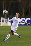 07 November 2008: North Carolina's Meghan Klingenberg. The University of North Carolina Tarheels defeated Boston College Eagles 2-0  at WakeMed Stadium at WakeMed Soccer Park in Cary, NC in a women's ACC tournament semifinal game.