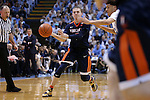 18 February 2017: Virginia's Kyle Guy. The University of North Carolina Tar Heels hosted the University of Virginia Cavaliers at the Dean E. Smith Center in Chapel Hill, North Carolina in a 2016-17 Division I Men's Basketball game. UNC won the game 65-41.
