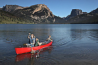 Canoeing on Green River Lake in the Wind River Mountains