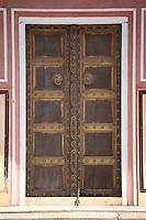 Door to the harem Zenana Deorhi at The Maharaja of Jaipur's Moon Palace  in Jaipur, Rajasthan, India