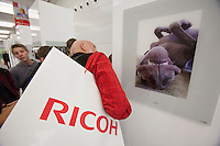 Photokina in Cologne ist the World's biggest bi-annual photo fair..Visitors enjoying one of many exhibitions.