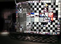Kathleen Murray<br /> Memphis Graffiti Quilt<br /> Aluminum &amp; galvenized wire, 2012<br /> 63 x 93 inches