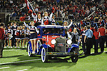 Cheerleaders ride into the stadium before the Ole Miss vs. Louisiana Tech in Oxford, Miss. on Saturday, November 12, 2011.