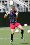 22 October 2005: US National Team member Heather Mitts. The United States and Mexico Women's National Teams practiced at Blackbaud Stadium in Charleston, South Carolina before an International Friendly soccer match.