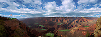 Fantasy Golfing Grand Canyon Panorama, Composite, CGI