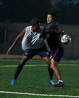 Juan Agudelo and Wilmer Cabrera. U.S. Under-17 Men Training  Kano, Nigeria