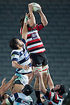 Ronald Raaymakers claims lineout ball ahead of Steven Luatua. ITM Cup Round 7 rugby game between Auckland and Counties Manukau, played at Eden Park, Auckland on Thursday August 11th..Auckland won 25 - 22.
