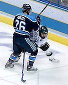 Teddy Purcell (University of Maine - St. John's, NL), Brandon Gentile (Michigan State - Clarkston, MI) - The Michigan State Spartans defeated the University of Maine Black Bears 4-2 in their 2007 Frozen Four semi-final on Thursday, April 5, 2007, at the Scottrade Center in St. Louis, Missouri.