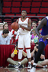 03 November 2016: NC State's Dennis Smith, Jr. The North Carolina State University Wolfpack hosted the Lynn University Fighting Knights at PNC Arena in Raleigh, North Carolina in a 2016-17 NCAA Division I Men's Basketball exhibition game. NC State won the game 100-66.