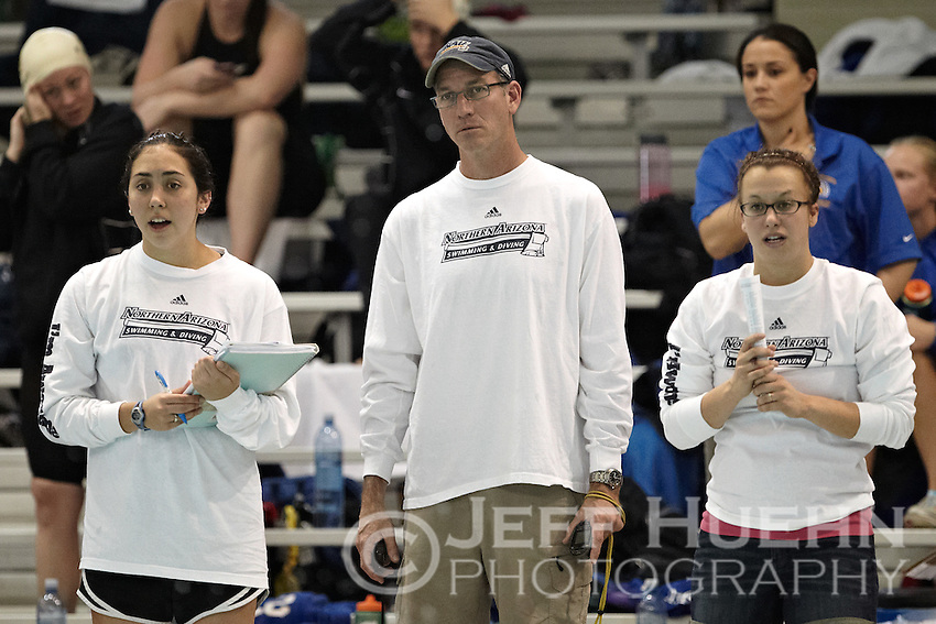 SAN ANTONIO, TX - FEBRUARY 24, 2012: Day 3 of the 2012 Western Athletic Conference Swimming &amp; Diving Championships at the Palo Alto College Natatorium. (Photo by Jeff Huehn)