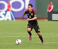 San Francisco, California - Saturday March 17, 2012: Hector Herrera in action during the Mexico vs Senegal U23 in final Olympic qualifying tuneup. Mexico defeated Senegal 2-1