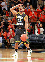 CHARLOTTESVILLE, VA- DECEMBER 6: Corey Edwards #13 of the George Mason Patriots handles the ball during the game on December 6, 2011 against the Virginia Cavaliers at the John Paul Jones Arena in Charlottesville, Virginia. Virginia defeated George Mason 68-48. (Photo by Andrew Shurtleff/Getty Images) *** Local Caption *** Local Caption*** Corey Edwards