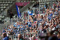 Bath fans in the crowd show their support. European Rugby Challenge Cup Semi Final, between Stade Francais and Bath Rugby on April 23, 2017 at the Stade Jean-Bouin in Paris, France. Photo by: Patrick Khachfe / Onside Images