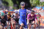 Fernando Gaviria (COL) Quick-Step Floors wins Stage 5 of the 100th edition of the Giro d'Italia 2017, running 159km from Pedara to Messina, Sicily, Italy. 10th May 2017.<br /> Picture: LaPresse/Gian Mattia D'Alberto | Cyclefile<br /> <br /> <br /> All photos usage must carry mandatory copyright credit (&copy; Cyclefile | LaPresse/Gian Mattia D'Alberto)