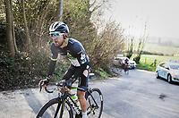 Algerian rider Youcef Reguigui (ALG/Dimension Data) trying to get back to the peloton after a crash<br /> <br /> 60th E3 Harelbeke (1.UWT)<br /> 1day race: Harelbeke &rsaquo; Harelbeke - BEL (206km)