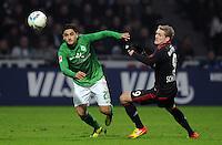 FUSSBALL   1. BUNDESLIGA   SAISON 2011/2012   19. SPIELTAG Werder Bremen - Bayer 04 Leverkusen                    28.01.2012 Mehmet Ekici (li, SV Werder Bremen) gegen Andre Schuerrle (re, Bayer 04 Leverkusen)