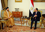 Egyptian President Abdel Fattah al-Sisi meets with Ammar al-Hakim, leader of the Islamic Supreme Council of Iraq (ISCI), in Cairo, Egypt, on April 18, 2017. Photo by Egyptian President Office