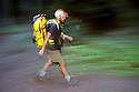 CC99339-80...WASHINGTON - High speed hiker on White River Trail in the Wenatchee National Forest. (MR-yes)
