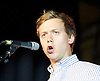 Owen Jones speaking at the Jeremy Corbyn rally <br /> <br /> Jeremy Corbyn MP <br /> Rally for the Labour Leadership <br /> at the Camden Centre, London, Great Britain <br /> 3rd August 2015 <br /> <br /> Owen Jones <br /> speaking just before Jeremy Corbyn enters the room <br /> <br /> <br /> Photograph by Elliott Franks <br /> Image licensed to Elliott Franks Photography Services