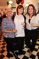 "NO REPRO FEE. 26/5/2011. NEW EDDIE ROCKET'S SHAKE SHOP. Ruth, Annie and Edith O Donohoe are pictured in the new Eddie Rocket's Shake Shop. The design seeks to recall the vintage milkshake bars from 1950's America and re-imagine them for the 21st century. The new look aims to appeal to both young and old with a quirky and bold colour scheme and a concept of make-your-own milkshakes, based on the tag line ""You make it...We shake it!"". Eddie Rocket's City Diner in the Stillorgan Shopping Centre in south Dublin has re-opened after an exciting re-vamp and the addition of a Shake Shop. Ten new jobs have been created with the Diner's re-launch bringing the total working in Eddie Rocket's Stillorgan to 30. Picture James Horan/Collins Photos"