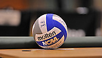 28 October 2012: A Game Volleyball lies ready for a game between the Farmindale State College Rams and the Yeshiva University Maccabees at SUNY Old Westbury in Old Westbury, NY. The Rams defeated the Maccabees 3-0 in NCAA women's volleyball play. Mandatory Credit: Ed Wolfstein Photo