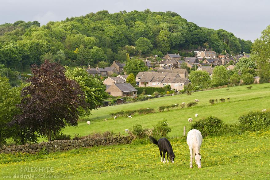 Birchover village. Peak District National Park, UK.
