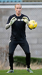St Johnstone Training&hellip;..21.10.16<br />Keeper Mark Hurst pictured during training ahead of Sunday&rsquo;s game against local rivals Dundee<br />Picture by Graeme Hart.<br />Copyright Perthshire Picture Agency<br />Tel: 01738 623350  Mobile: 07990 594431