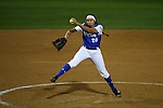 CHAPEL HILL, NC - FEBRUARY 24: Hampton's Allie Hotetz pitches. The Hampton University Pirates played the Towson University Tigers on February, 24, 2017, at Anderson Softball Stadium in Chapel Hill, NC in a Division I College Softball match. Towson won 17-2 in a five inning run-rule game.
