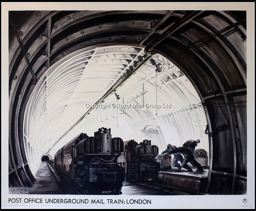 BNPS.co.uk (01202 558833)<br /> Pic: RoyalMailGroup/BNPS<br /> <br /> Lili Rethi (1894-1971) Post Office Underground Mail Train: London, original GPO poster.<br /> <br /> A one-of-a-kind sale of rare vintage posters could net the Post Office &pound;40,000 to put towards the building of a new museum dedicated to the service.<br /> <br /> In a bid to raise funds for the new British Postal Museum, curators sifted through the Royal Mail archives to find duplicates of advertising posters dating back to the 1930s that they could sell at auction.<br /> <br /> The resulting collection of more than 150 original posters are now going under the hammer at Onslows Auctions in Blandford, Dorset, in a sale the likes of which has never been held before.<br /> <br /> The proceeds will go towards the building of the new museum in Camden, London, which will feature part of the old Post Office Underground Railway - the Mail Rail - as a heritage attraction.